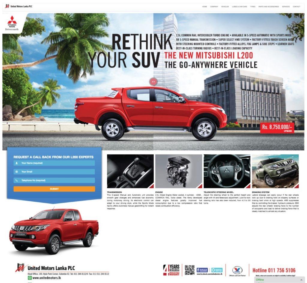 Mitsubishi website