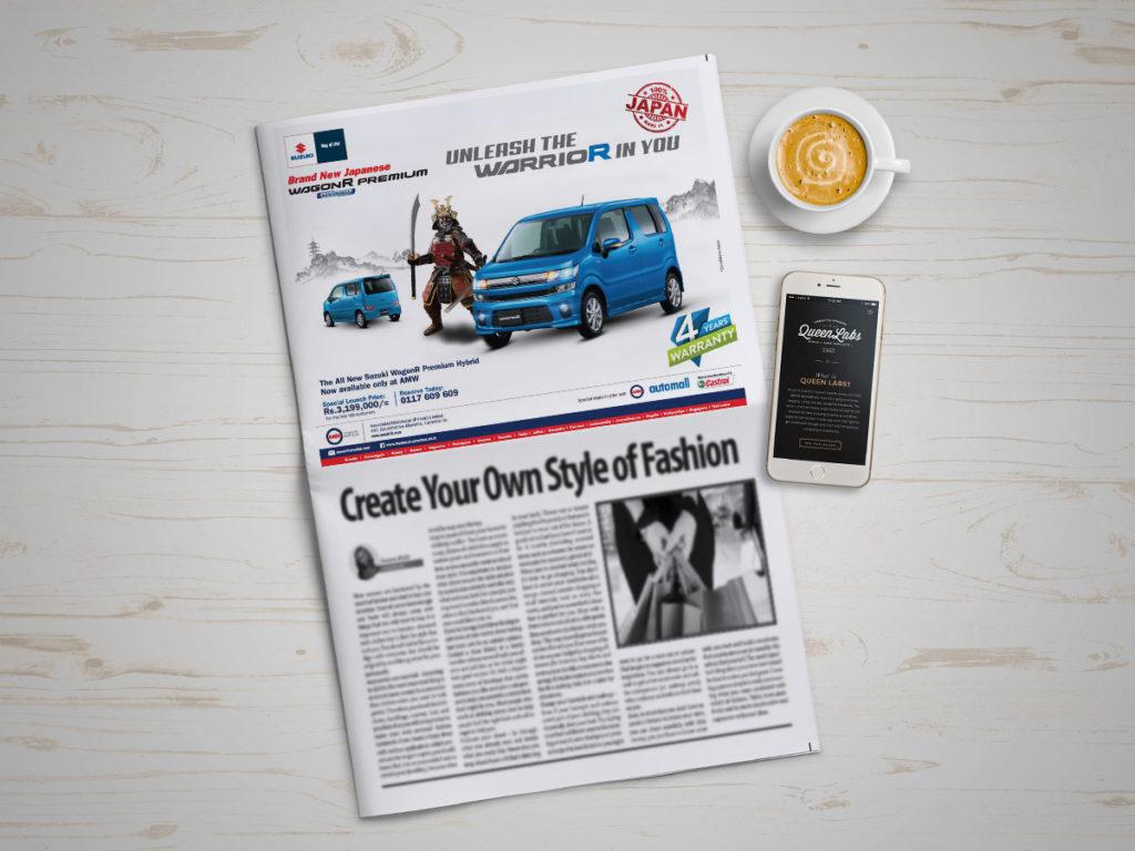 Article of new Suzuki Wagon R