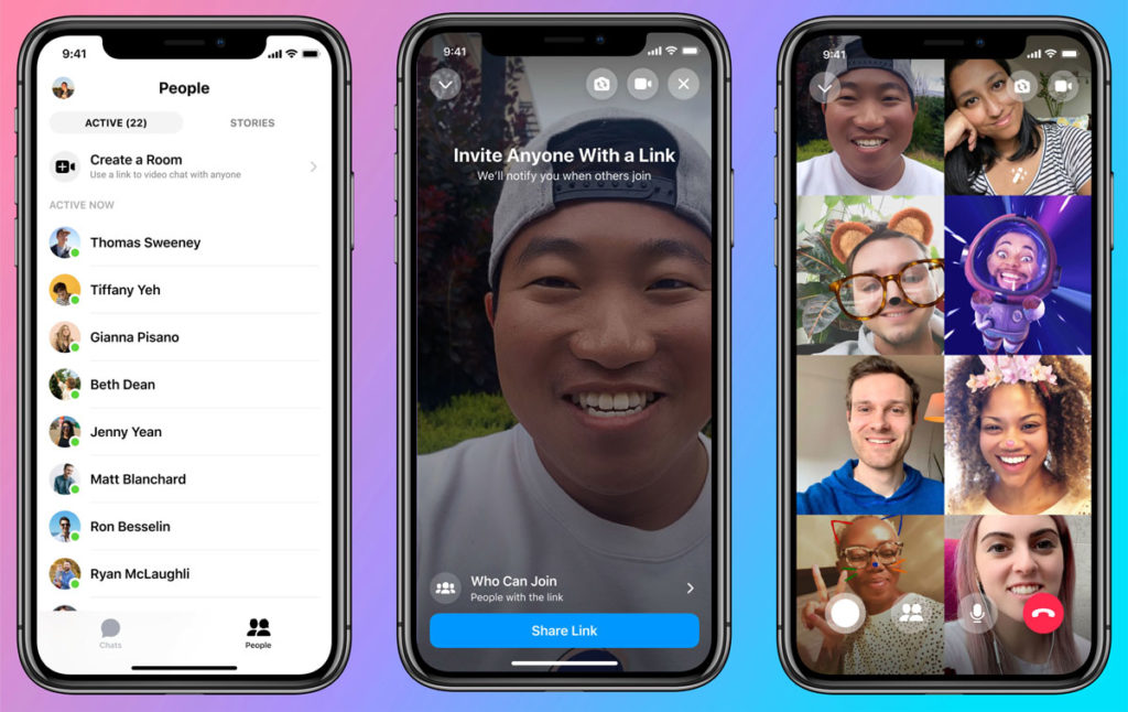 Phone users introduce of Messenger Rooms